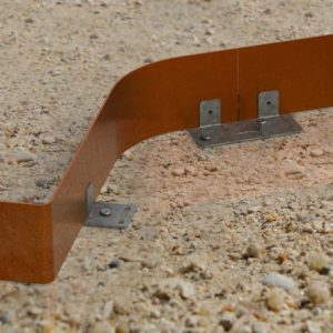 bordure en acier corten apanages